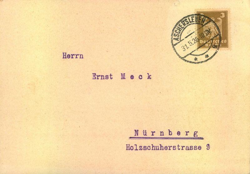 1926 Schöne Werbekarte Tiefbautechn Büro Aschersleben Nr
