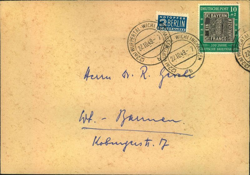 1949, 10 Pfg.