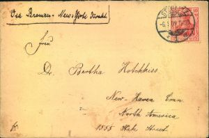 1909, Brief ab STEGLITZ mit EF 10 Pfg. Germania im seltenern Sondertarif