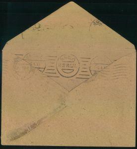 1945, BERLIN SCH A 6.4.45, Maschinenstempel innen auf gewendetem Umschlag, der am 13.8.45 von BERLIN-CHARLOTTENBURG mit
