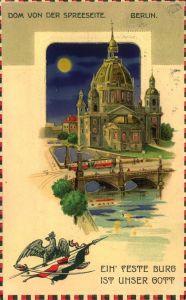 BERLIN 1916, Dom von der Spreeseite,