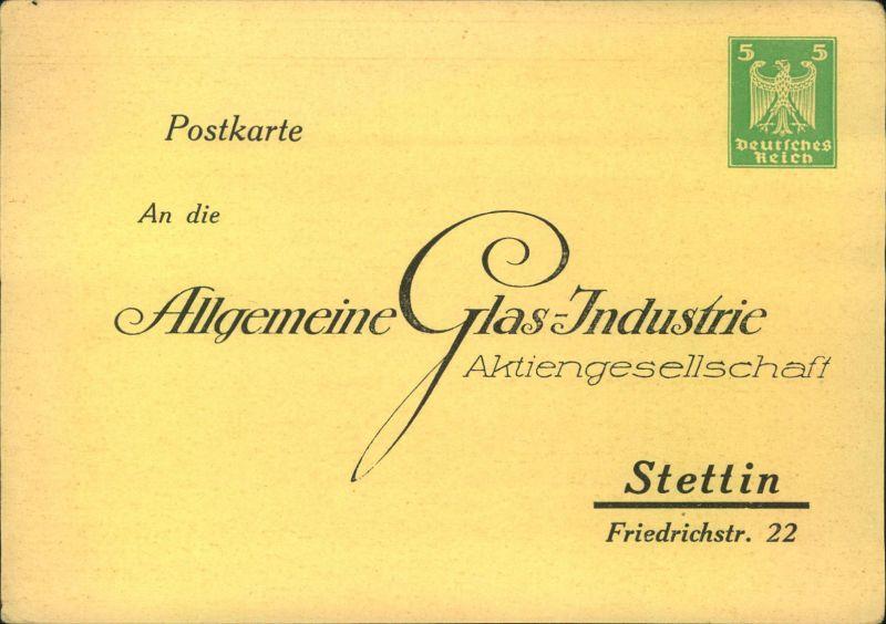 1924, Privatganzsachenkarte 5 Pfg. Wappen