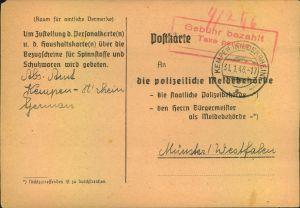 1946, Postkarte mit seltenem Ra3