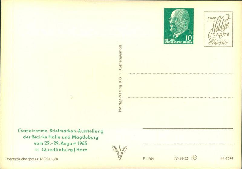 1968, Privatganzsache mit Wertstempel 10 Pfg. Ulbricht