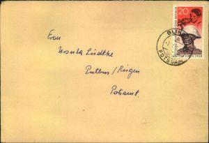1958, Fernbrief mit 20 Pfg.
