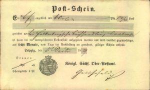 1859, Ortsdruck-Postschein