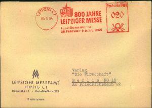 1964, Vordruckumschlag
