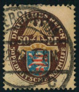 1926, 50 Pfg. Nothilfe Fat voll gestempelt.