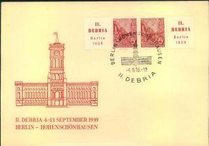 1959, DEBRIA Zusammendruck Zf/20 Pfg/20 Pfg