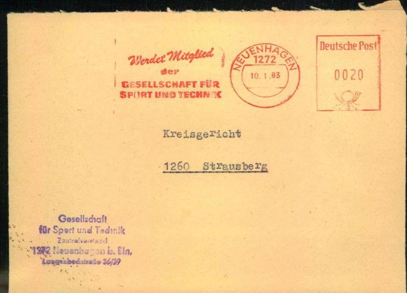 1983, Brief mit Absenderfreistempel