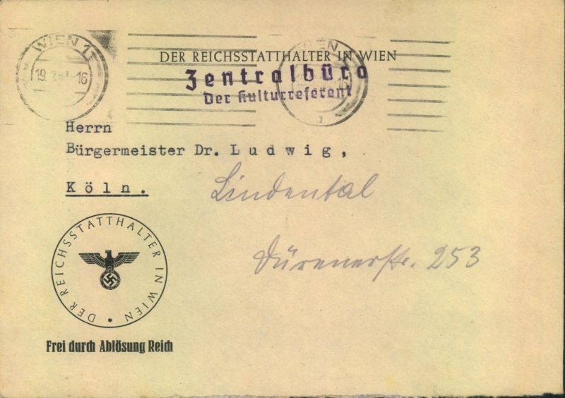1941, OSTMARK, Brief Absender