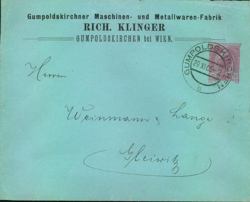 1906, 10 Heller Privatgnazschenumschlag