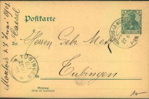 1902, MONTOIS-LA-MONTAGNE (KR. METZ), Kreis-Obersegment-Stempel,