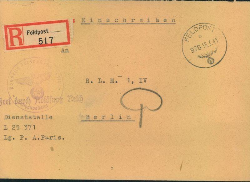 1941, Feldpostbrief Normstempel