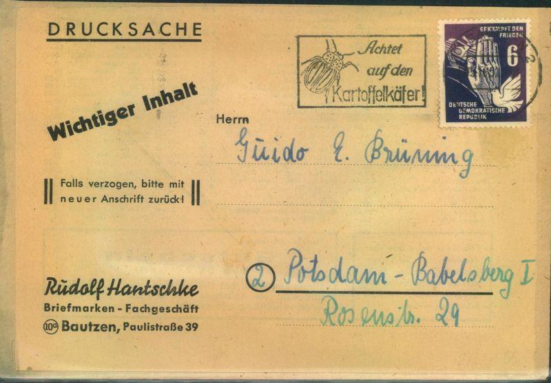 1952, Drucksache, KartoffelkäferstempelBAUTZEN
