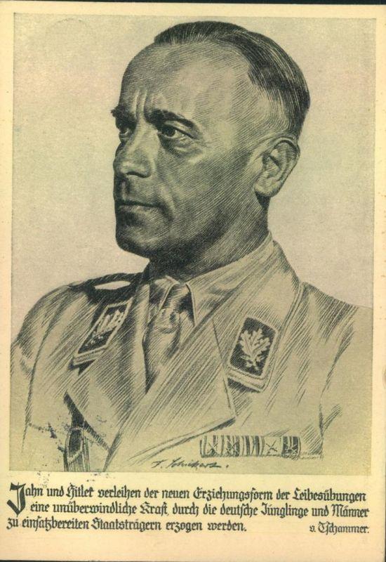 1936, Werbekarte Hilfsfonds f. d. Deuutschen Sport TSCHAMMER VON OSTEN, Reichsjugendführer