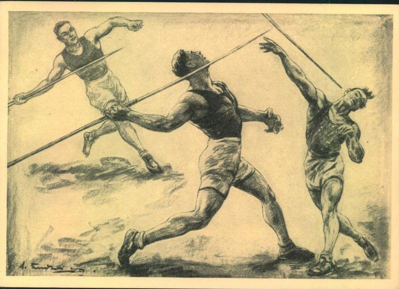 1936, Werbekarte Hilfsfonds f. d. Deuutschen Sport