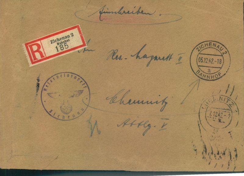 1942, Feldpost-Eisnchreiben ab