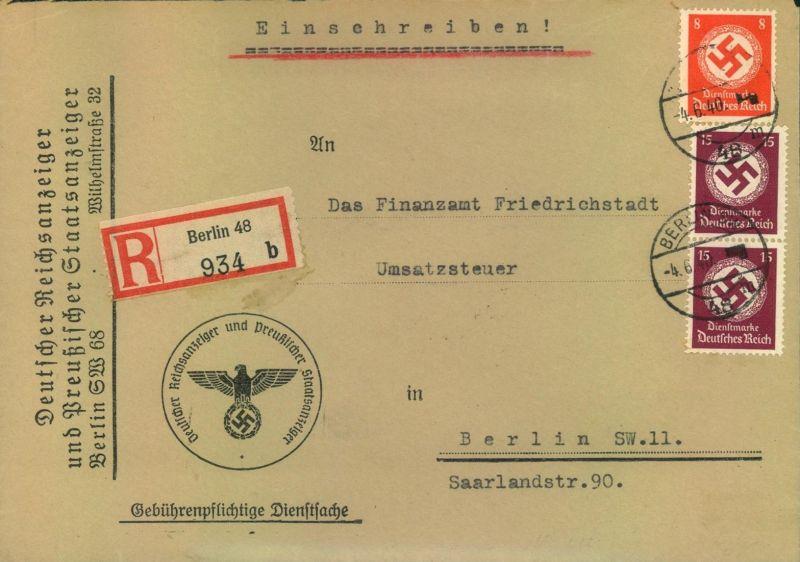 1940, Orts-Einschreiben