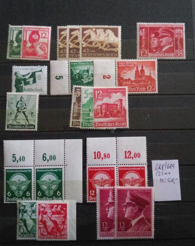 1935/1944, 3. REICH:  postfrisches Lot mit guten Ausgaben - hoher Katalogwert - high catalogue