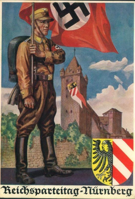 1936, REICHSPARTEITAG Propagandakarte Photo Hoffmann 36/9, galufen