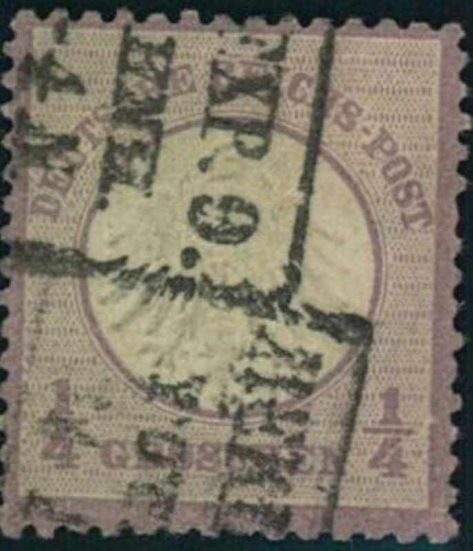 1872: Michel-Nr. 1, 1/4 Groschen kleiner Brustschild (120,-)