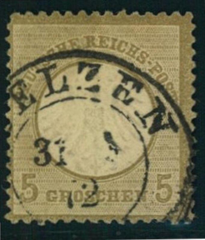 1872: Michel-Nr. 5, 5 Groschen kleiner Brustschild (120,-)