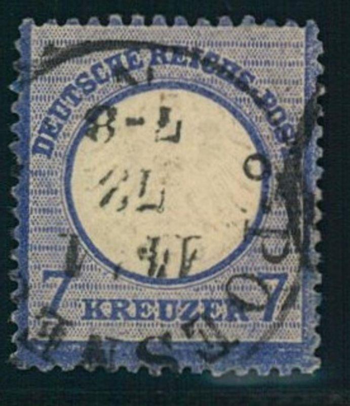1872: Michel-Nr. 10, 7 Kreuzer kleiner Brustschild (120,-)