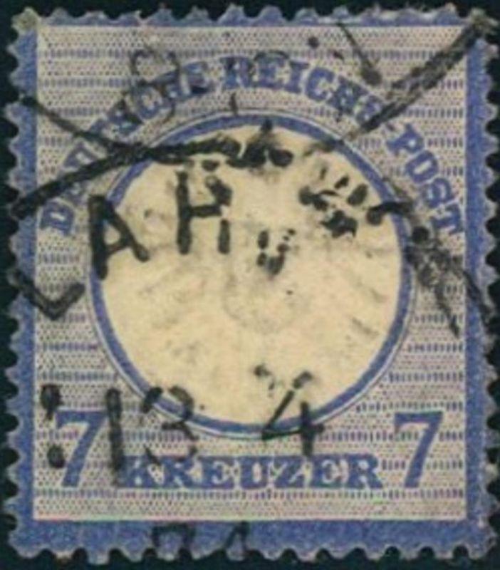 1872: Michel-Nr. 26, 7 Kreuzer großer Brustschild (90,,-)