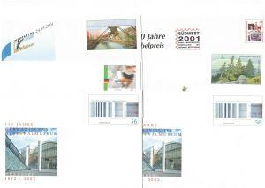 2001/2002, BUND ungebrauchte Ganzschenumschläge (31) und -karten (8) - Nominale/face value 21,44 Euro