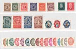1924-1933, WEIMARER REPUBLIK: interessantes Lot sauber ungebraucht Michel ca. 140,-