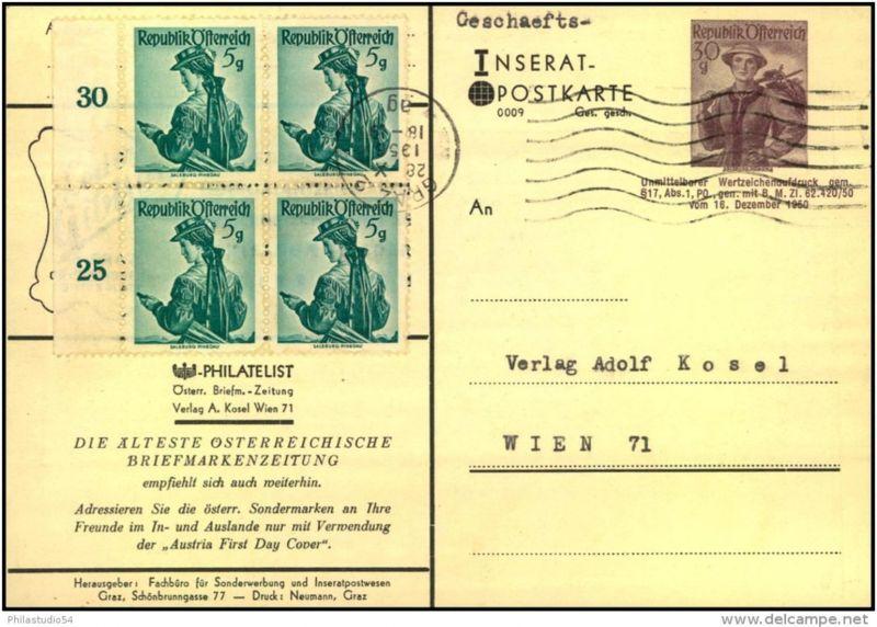 1956: 30 Groschen Inseratspostkarte Serie 009
