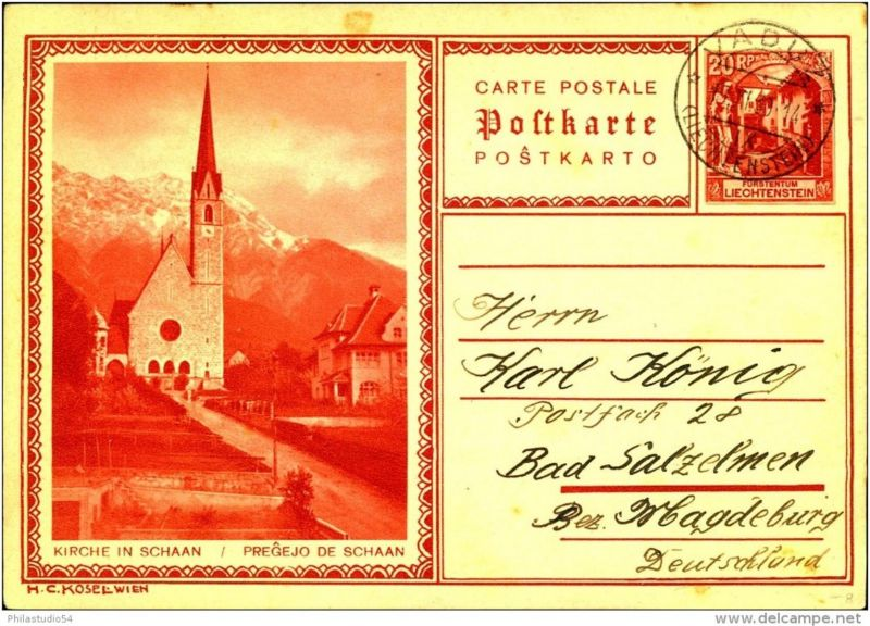 1930: 20 Rp. Bildpostkarte