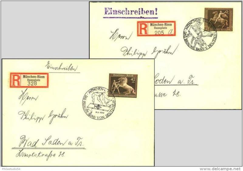Braunes Band 1938-1944 komplett je auf R-Brief ab