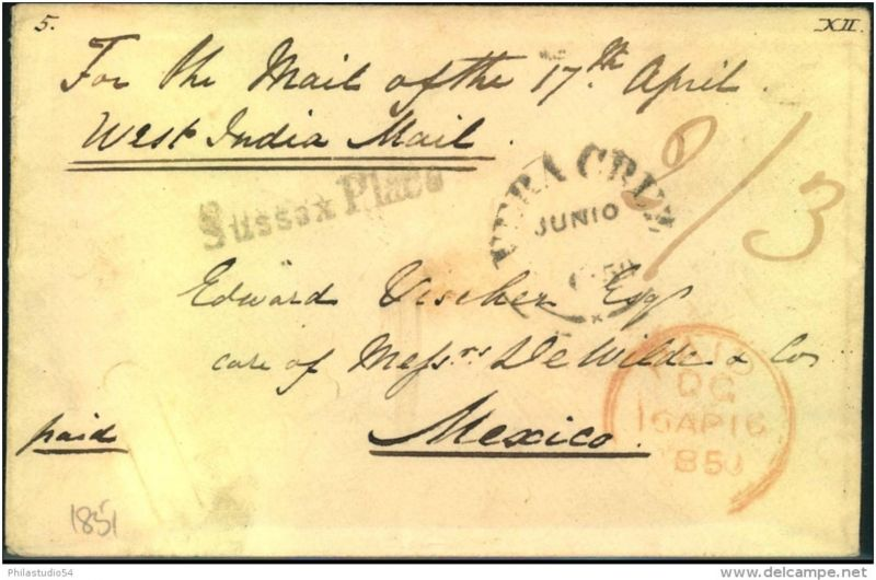 1851, envelope from