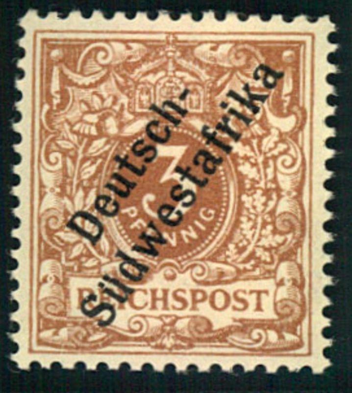 1897, 3 Pfg. Krone/Adler, hellockerbraun postfrisch doppelt geprüft Jäschke-Lantelme BPP