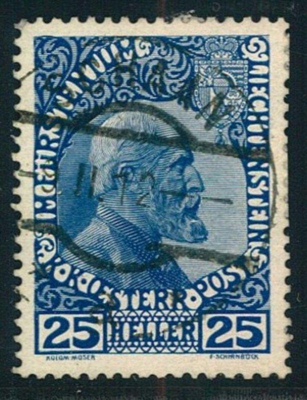 1912, 25 Heller Franz Josef, normales Papier gestempelt
