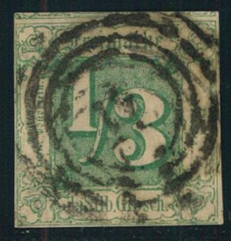 1862, 1/3 Sgr. grün (Mi-Nr. 27 - 170,-)