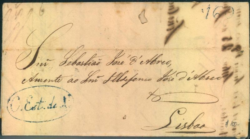 1838, folded letter from BAHIA dated