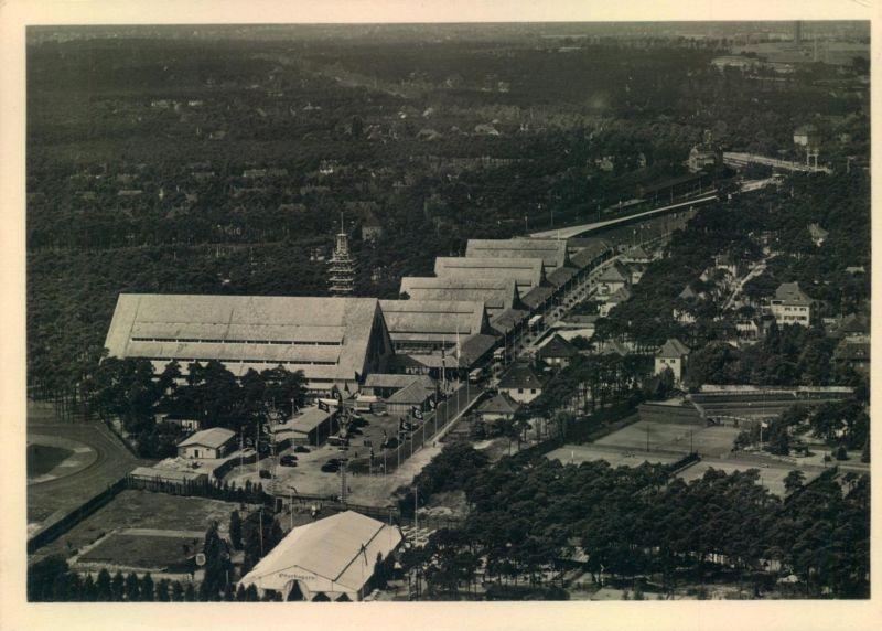 Olympia 1936, Luftbild K.d.F. Stadt mit entsprechendem Sonderstempel