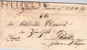 1848, Faltbrief mit rotem Schnörkelstempel HOLLAUBRUNN, Nieder Ösetrreich - Müller 1023