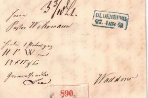 1860, Paketbegleitng von OLDENBURG