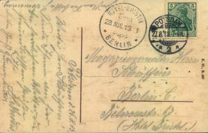 1913, HOTEL-BRISTOL BERLIN EING. seltener Hotel-Eingngsstempel auf Postkarte von Potsdam