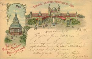 1896, PACKETFAHRT, 2 Pfg. privatganzsche zur BERLINER-GEWERBE-AUSSTELLUNG, gelaufen