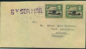 KENYA, UGANDA, TANGANYIKA, 1956, letter