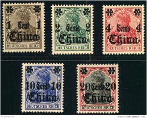 1-20 Cent. Germania overprint mnh