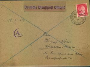 1943, ADAM OPEL AG, Instandsetzungswerk Riga - Deutsche Dienstpost Ostland