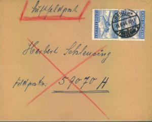 1944, Luftfeldpost ab BERLIN an FP-Nummer 59070 (Organisation Todt, Einsatz Peter, Norwegen)