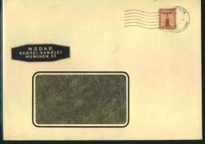 1943, 24 Pfg. braunorange auf großformatigem Umschlag