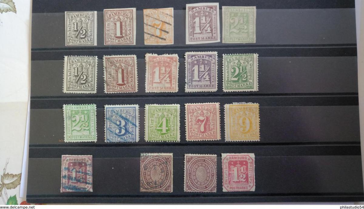 HAMBURG, 19 Marken (*)/*/o -  hoher Katalogwert - high catalogue value 0